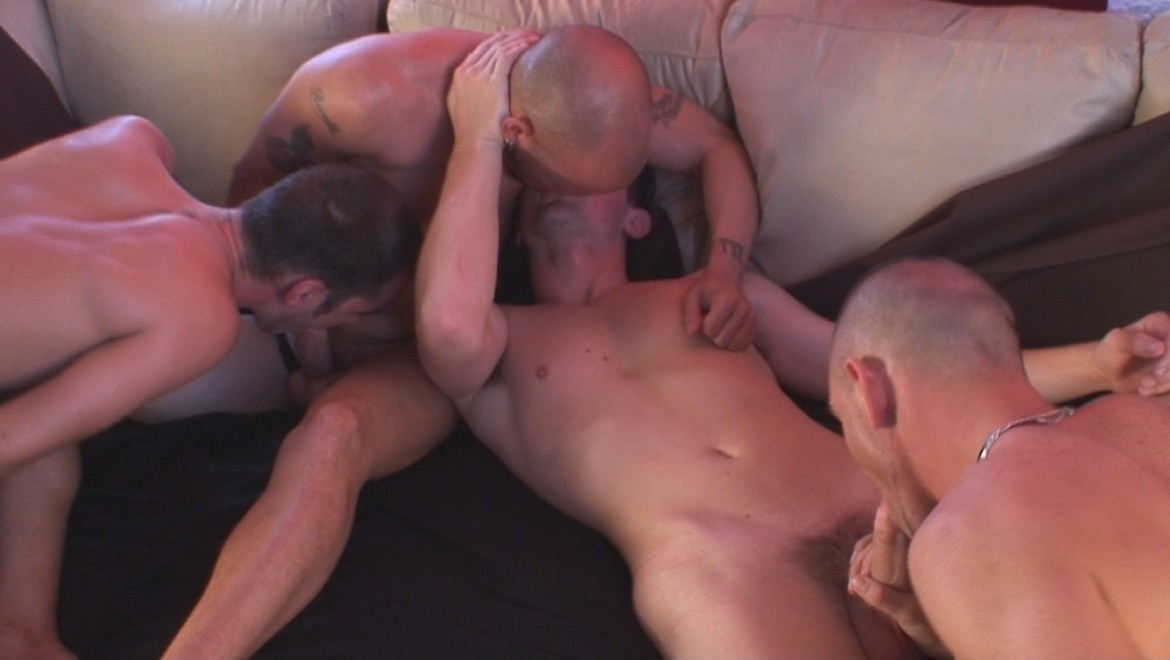 Skaters and Alt Studs Suck and Fuck in 4-Some with DP
